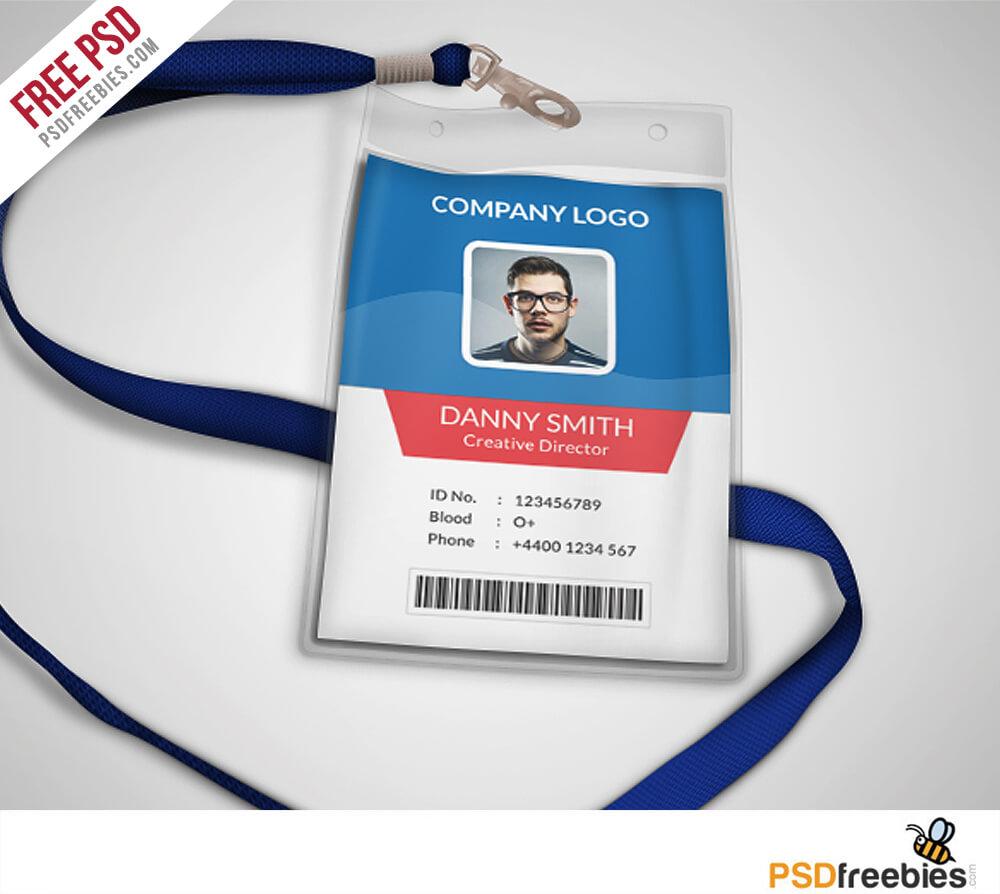 Multipurpose Company Id Card Free Psd Template | Psdfreebies in Template For Id Card Free Download