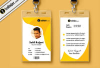 Multipurpose Corporate Office Id Card Free Psd Template in College Id Card Template Psd