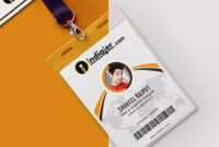 Multipurpose Corporate Office Id Card Free Psd Template Intended For Id Card Design Template Psd Free Download