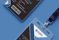 Multipurpose Dark Office Id Card Free Psd Template | Psd with regard to Template For Id Card Free Download