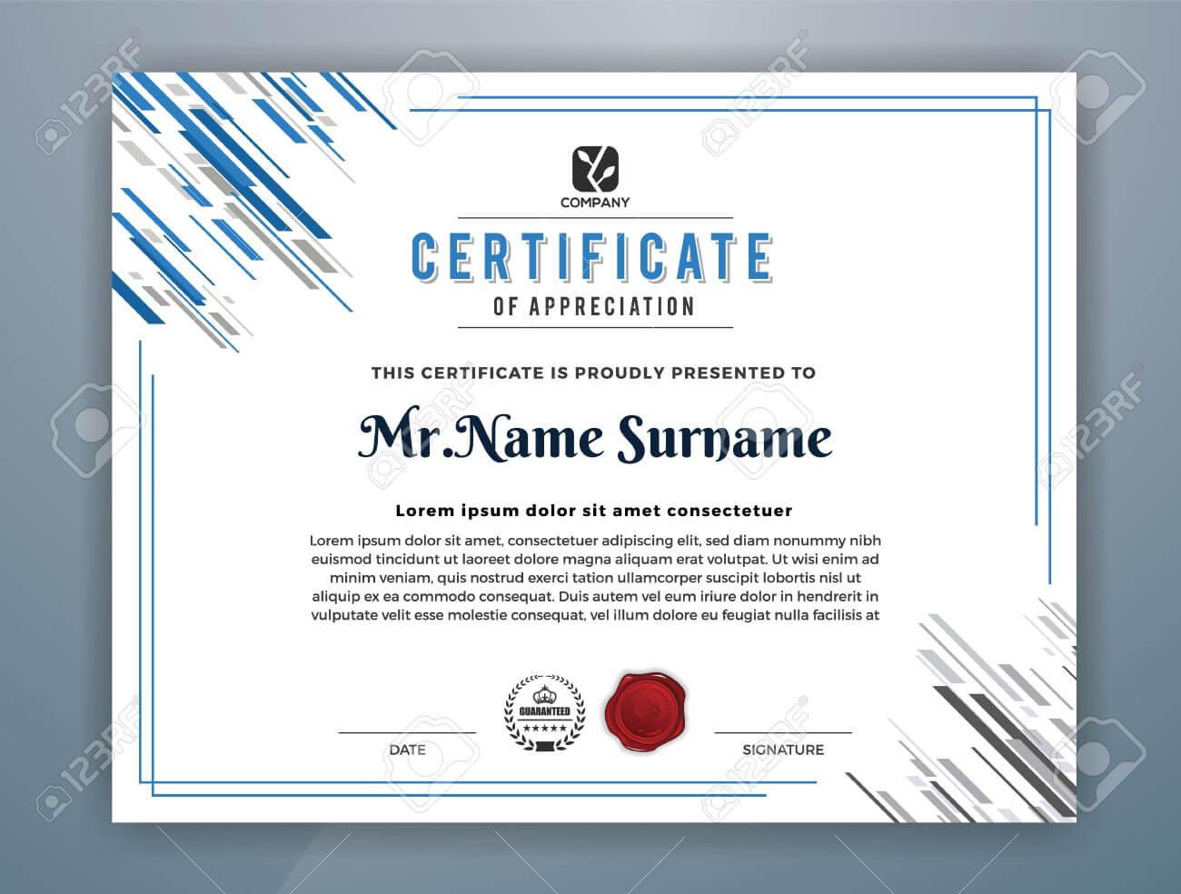 Multipurpose Modern Professional Certificate Template Design.. intended for Design A Certificate Template