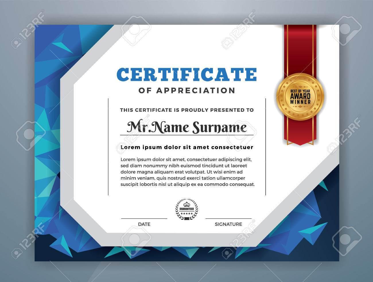 Multipurpose Modern Professional Certificate Template Design.. pertaining to Professional Award Certificate Template