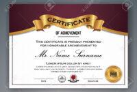 Multipurpose Professional Certificate Template Design For Print Regarding Professional Award Certificate Template