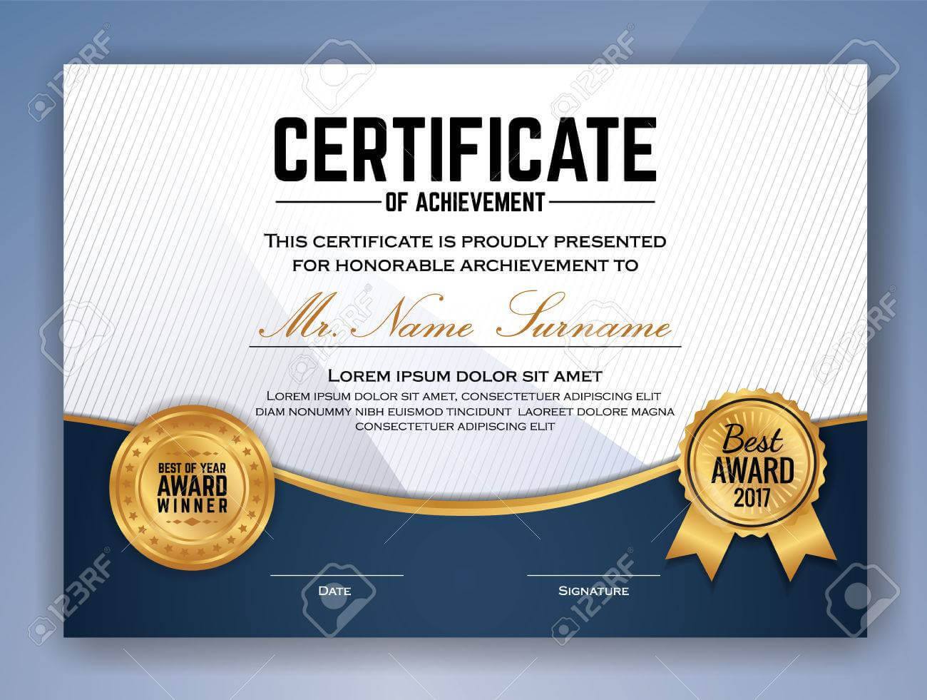 Multipurpose Professional Certificate Template Design For Print With Regard To Professional Award Certificate Template