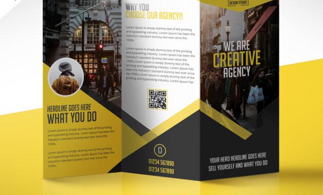 Multipurpose Trifold Business Brochure Free Psd Template with Free Three Fold Brochure Template
