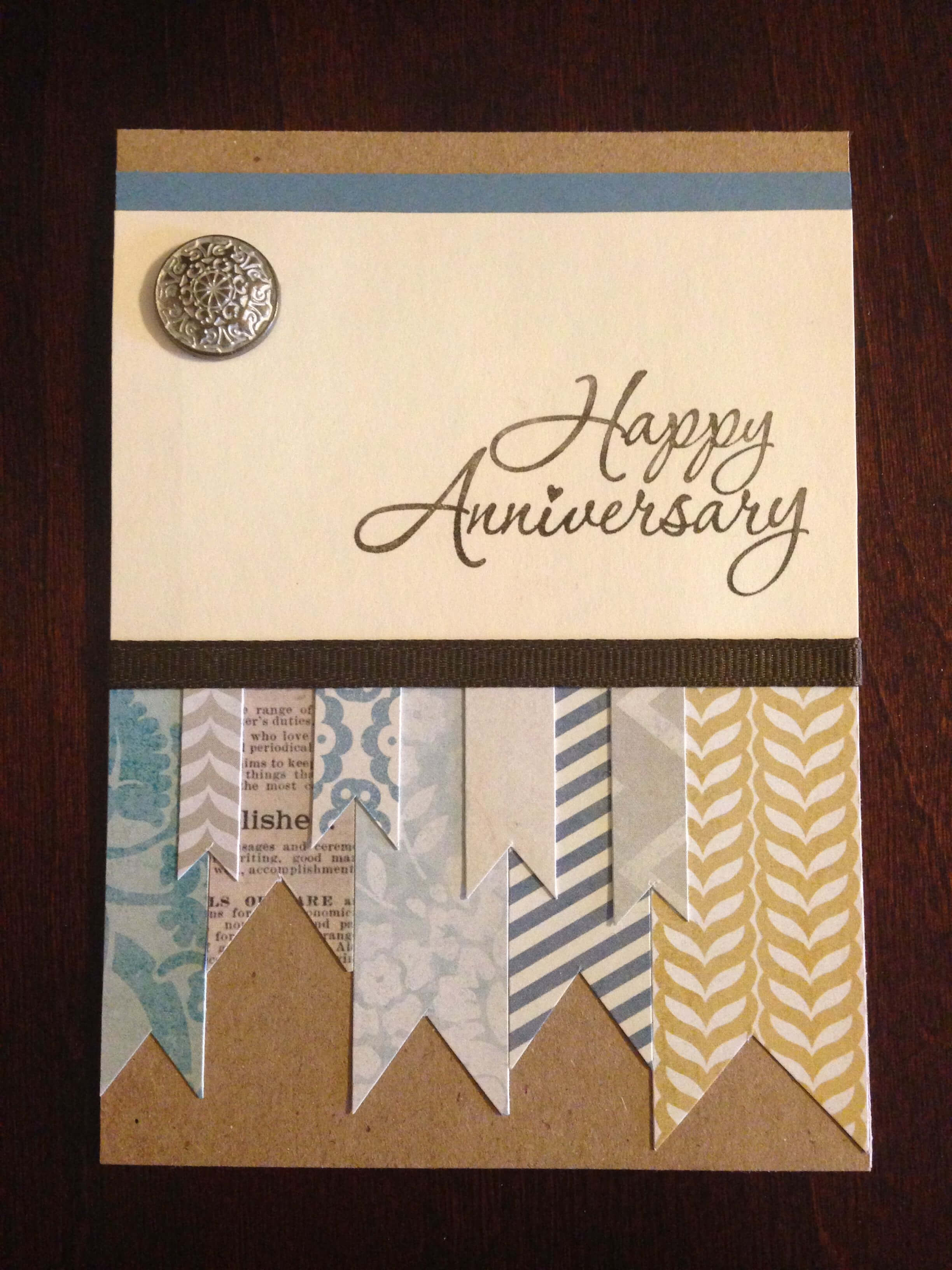 My Grandparents Anniversary Card | Paper Cards, Creative for Anniversary Card Template Word