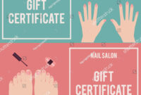 Nail Salon Gift Certificate. Gift… Stock Photo 411289828 throughout Nail Gift Certificate Template Free