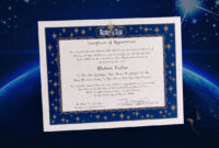 Name A Star Instant Certificate – Buy And Name A Star | Name throughout Star Naming Certificate Template