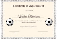 National Youth Football Certificate Template With Football Certificate Template