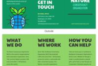 Nature Tri Fold Brochure Template – Venngage inside Volunteer Brochure Template