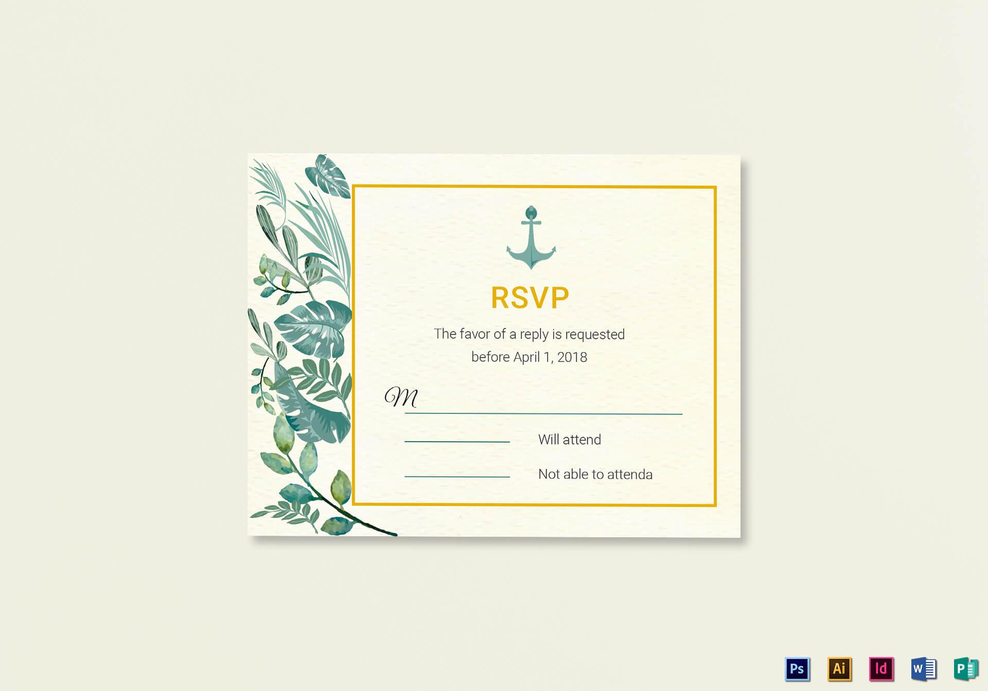 Nautical Wedding Rsvp Card Template pertaining to Template For Rsvp Cards For Wedding