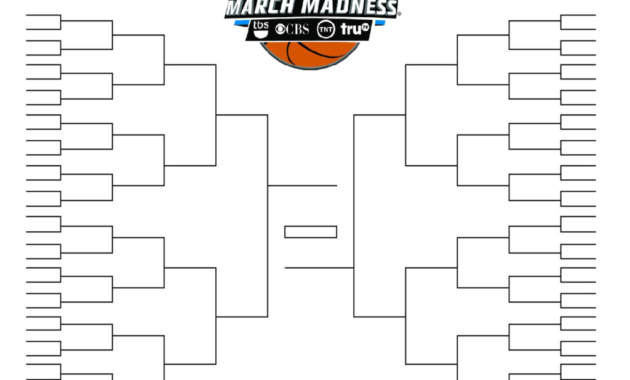 Ncaa Tournament Bracket In Pdf: Printable, Blank, And Fillable with regard to Blank Ncaa Bracket Template