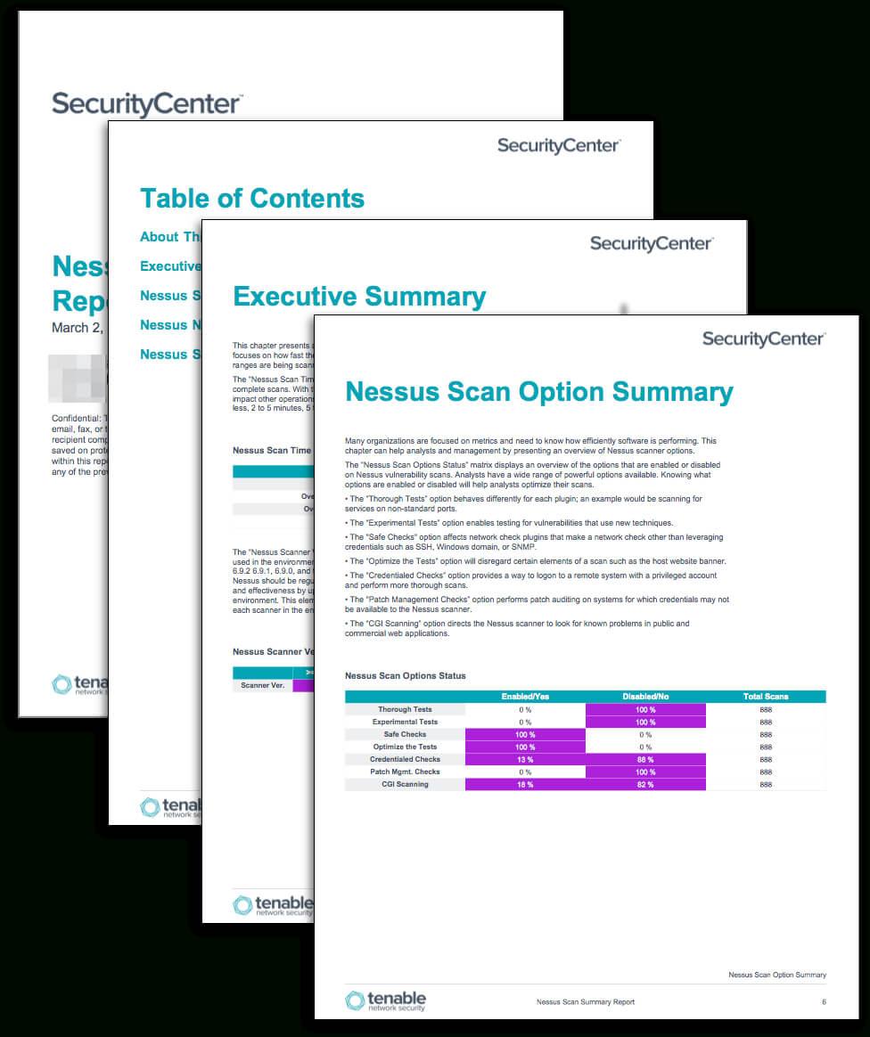 Nessus Scan Summary Report - Sc Report Template | Tenable® Regarding Nessus Report Templates