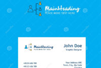 Networking Logo Design With Business Card Template. Elegant intended for Networking Card Template