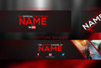 New 2017 Banner Template | Youtube Banner + Twitter Banner And Logo Psd |  With Free Download pertaining to Twitter Banner Template Psd