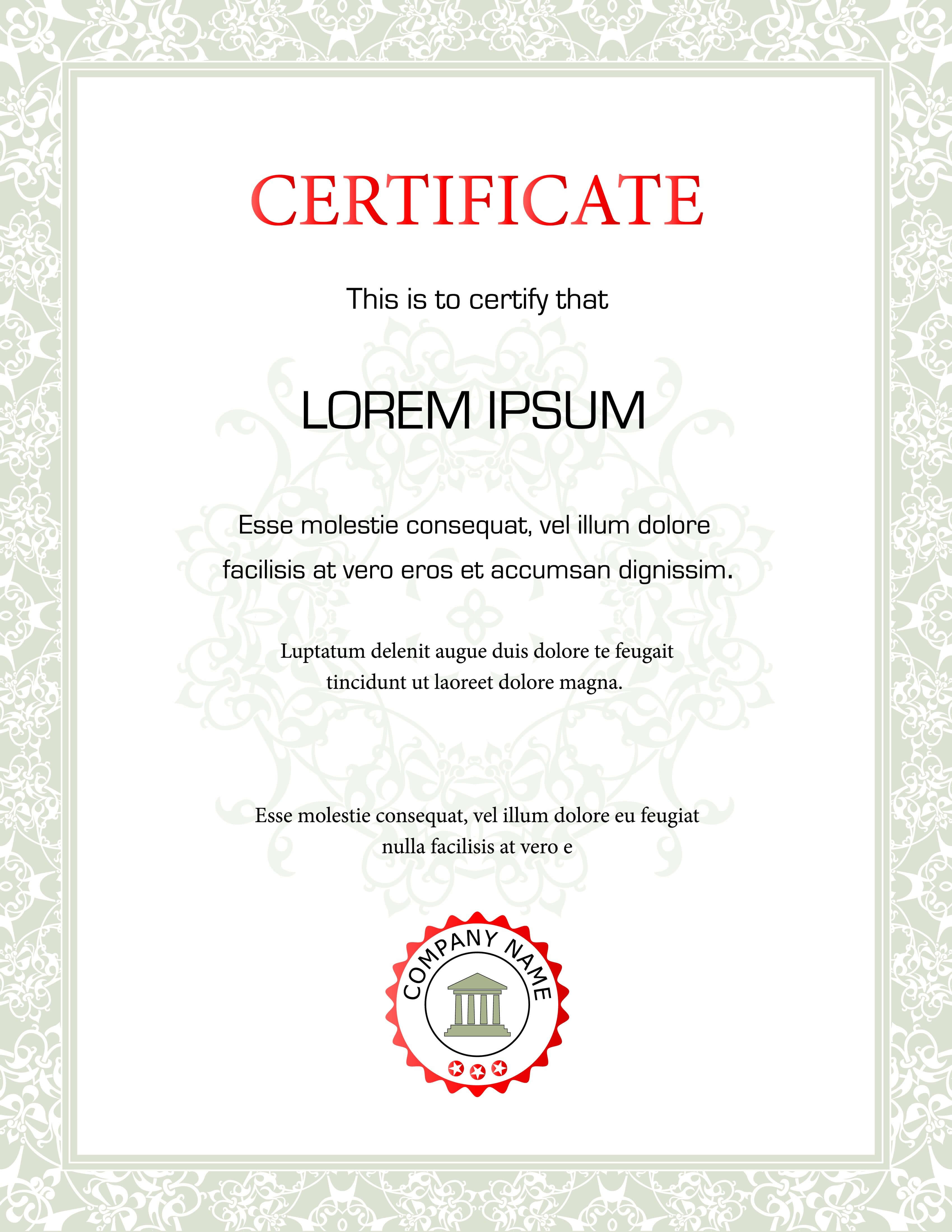 New Certificate Background Design Vector Free Download Throughout Beautiful Certificate Templates