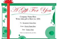 New Christmas Present Writing Template At Temasistemi with regard to Present Certificate Templates