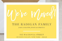 New Home Announcement Postcard, Moving Announcement Cards Throughout Moving Home Cards Template