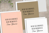 New Home Card Printable Calligraphy Housewarming Card New With Regard To Moving Home Cards Template