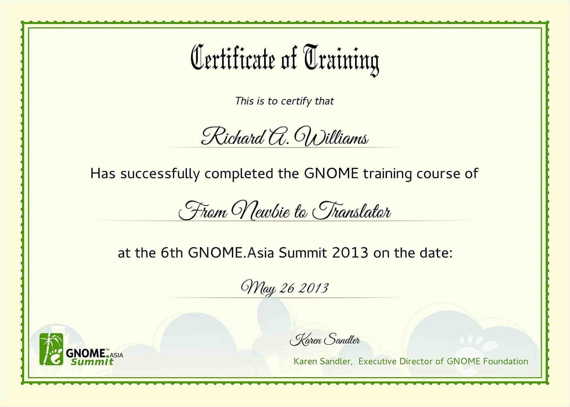 New Sample Certificate Templates Microsoft Word Fresh Free Inside Training Certificate Template Word Format
