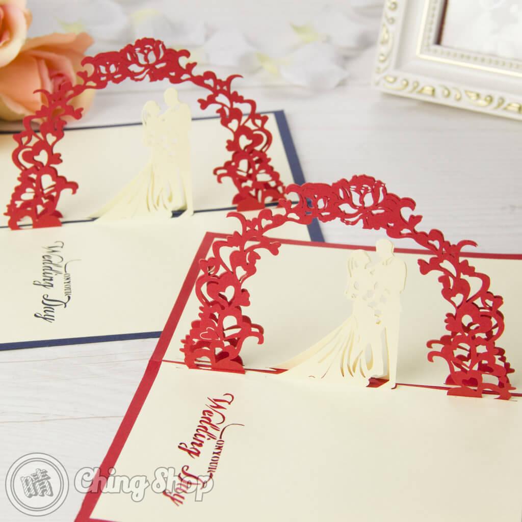 Newly Wed Bride & Groom Handmade 3D Pop-Up Wedding Congratulations Card inside Pop Up Wedding Card Template Free