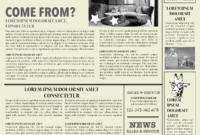 Newspaper Layout Newspaper Format Newspaper Generator Free regarding Old Newspaper Template Word Free