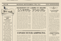 Newspaper Layout Newspaper Format Newspaper Generator Free with Old Blank Newspaper Template