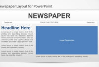 Newspaper Powerpoint Template in Newspaper Template For Powerpoint