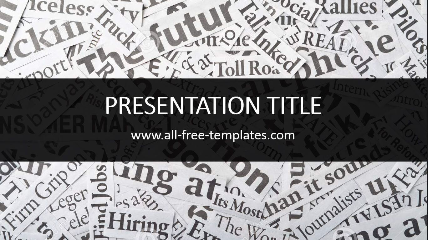 Newspaper Powerpoint Template Is Free Template That You Can With Newspaper Template For Powerpoint