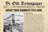 Newspaper Template For Powerpoint - Vsual regarding Newspaper Template For Powerpoint