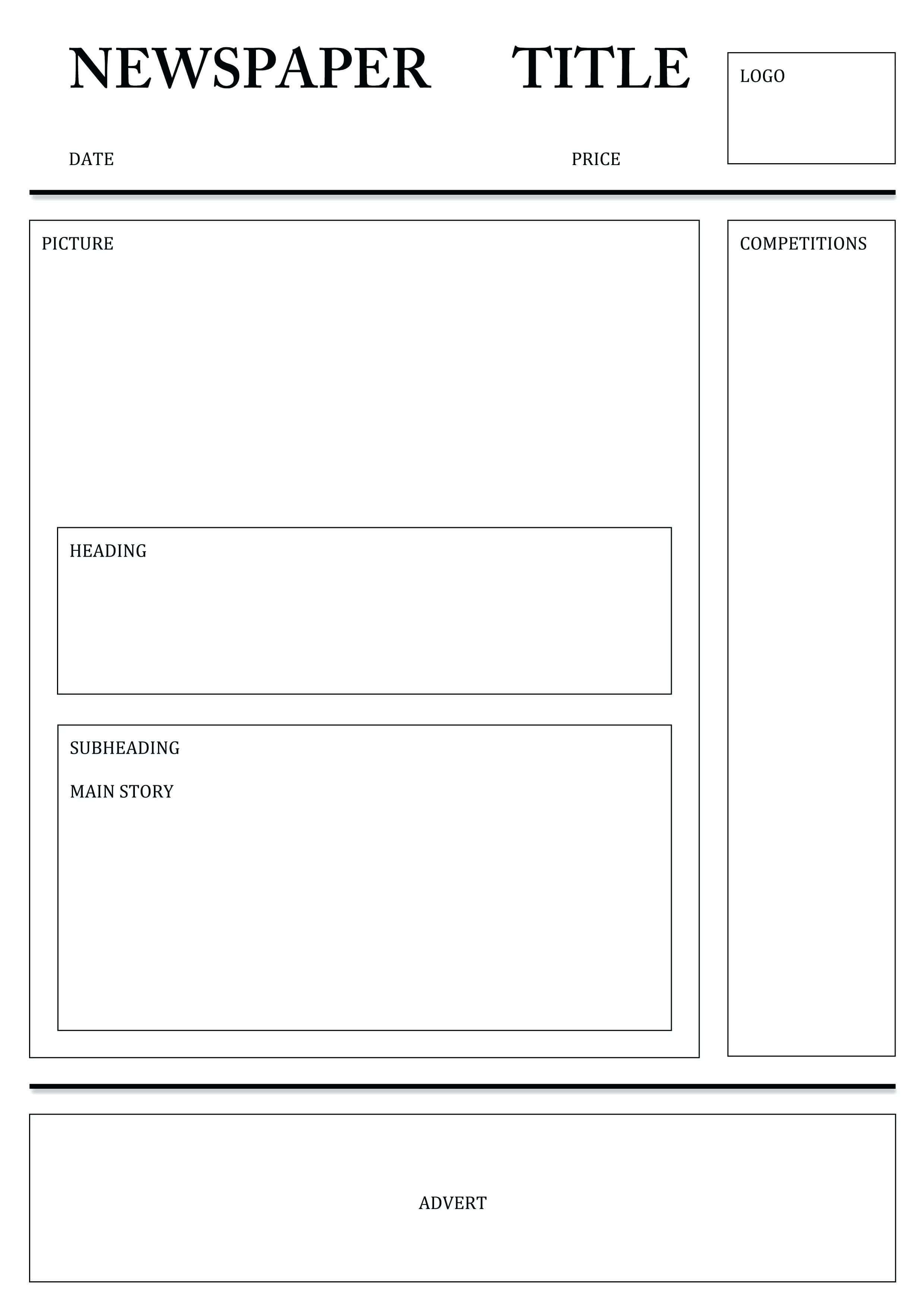 Newspaper Template For Word Pdf Excel | Printable Templates Within Blank Newspaper Template For Word