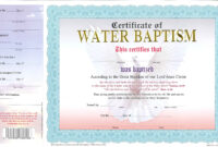 Nice Baptism Certificate Pictures Premium Free Printable intended for Christian Baptism Certificate Template