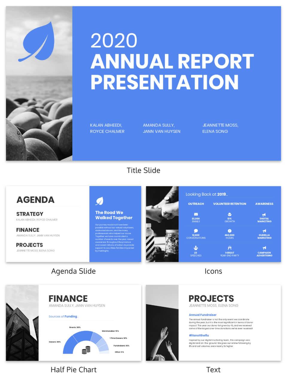 Non Profit Annual Report Presentation Template Template pertaining to Nonprofit Annual Report Template