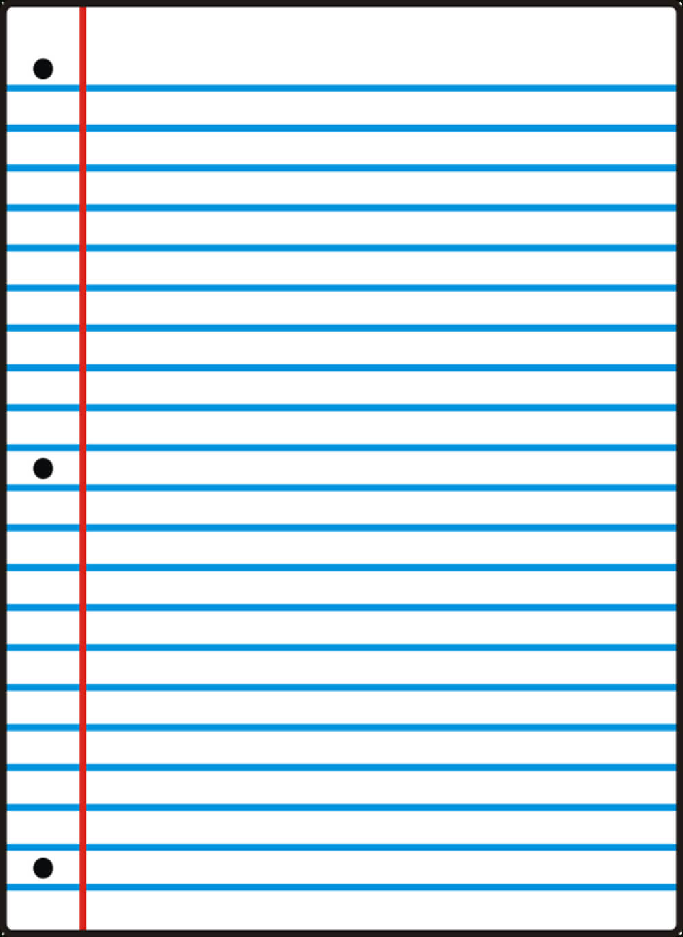 Notebook Paper Template For Word - Clip Art Library for Notebook Paper Template For Word
