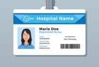 Nurse Id Card Medical Identity Badge Template inside Personal Identification Card Template