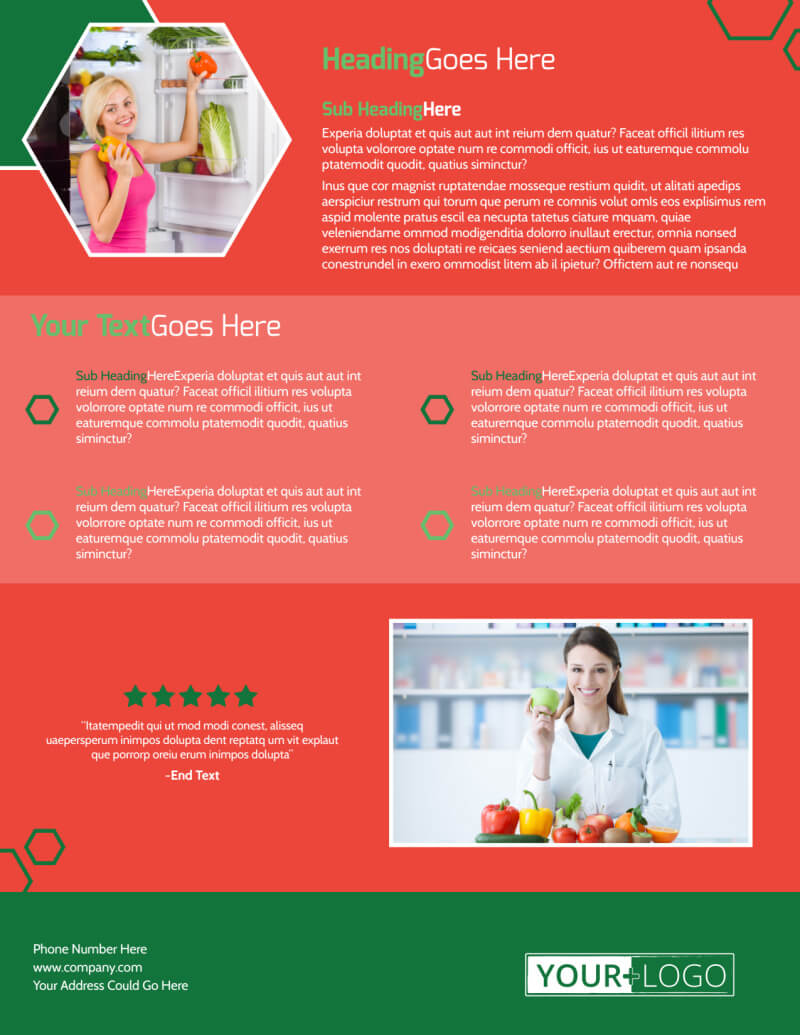 Nutrition Experts Flyer Template throughout Nutrition Brochure Template