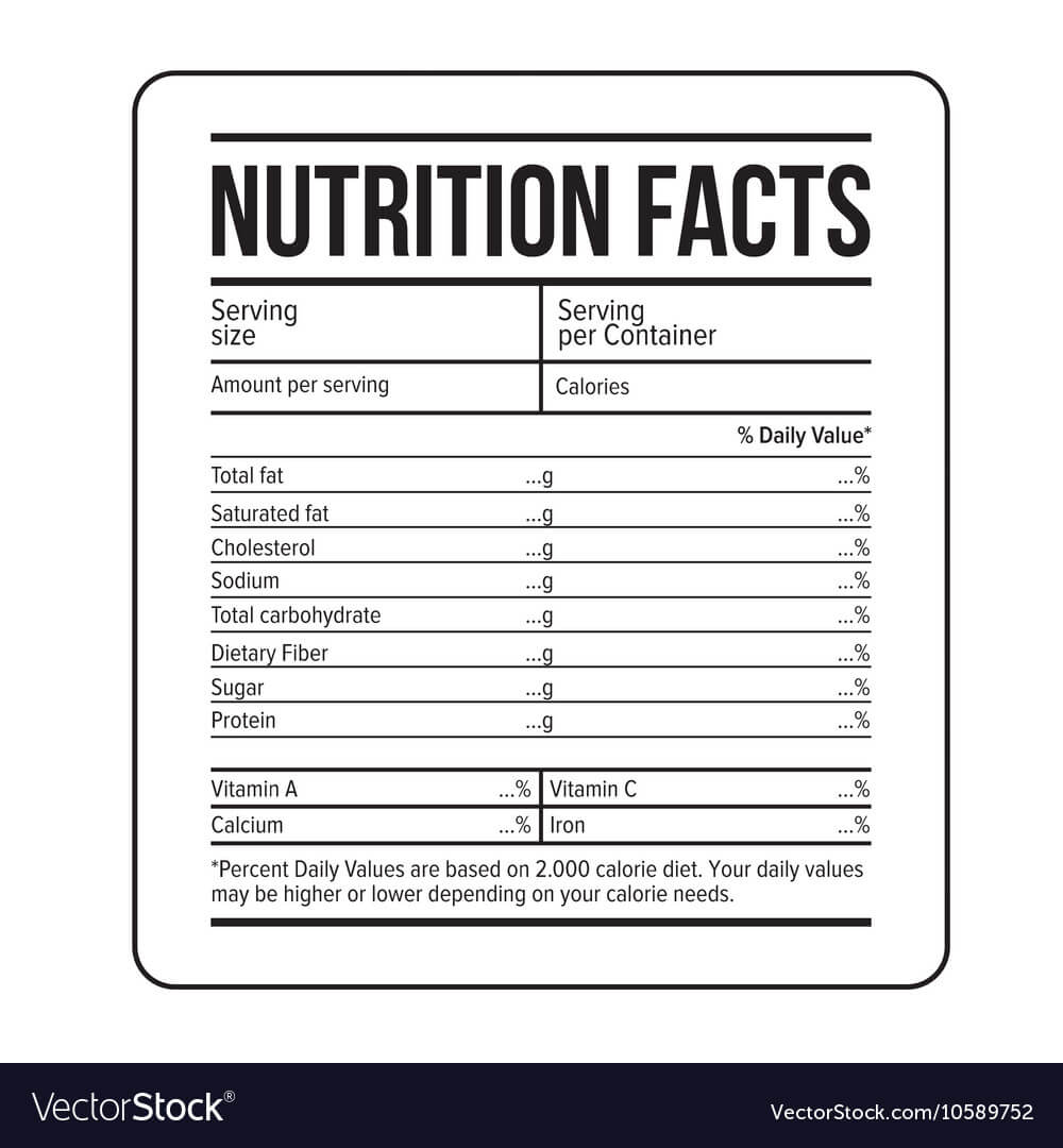 Nutrition Facts Label Template regarding Blank Food Label Template