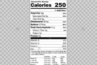 Nutrition Label Template Facts Creator Clipart Images Within Nutrition Label Template Word