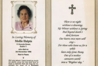 Obituary Cards – Yupar.magdalene Project In Remembrance Cards Template Free