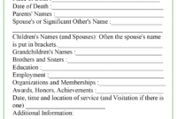 Obituary Template inside Fill In The Blank Obituary Template