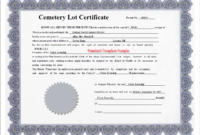 Obtaining A Customized Deed Report (Rights To Burial pertaining to Certificate Of Ownership Template