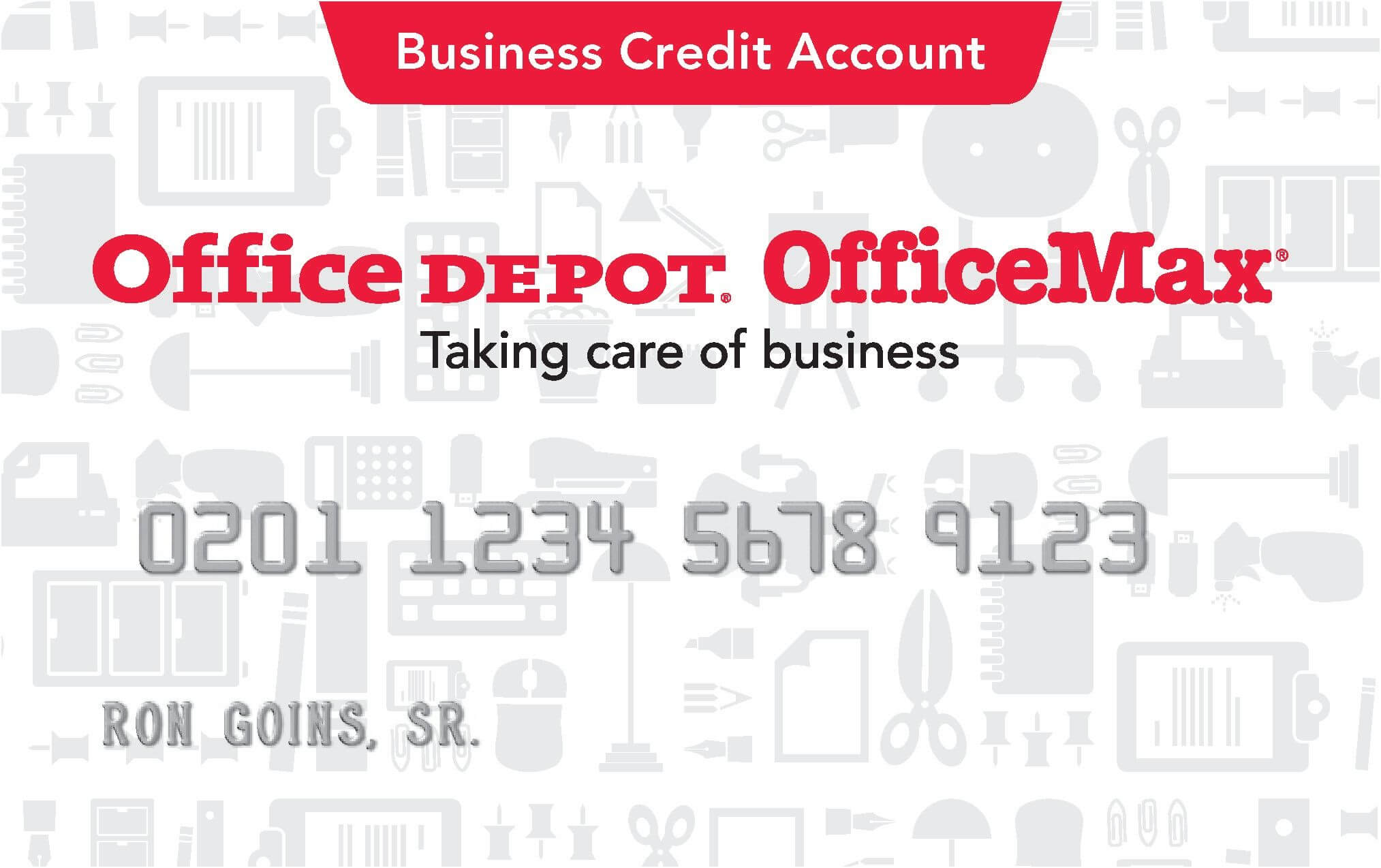 Office Depot Credit Card | School | Office Depot, Business intended for Office Max Business Card Template