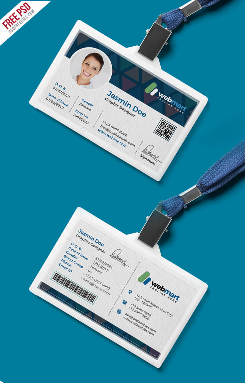 Office Id Card Design Psd   Psdfreebies Pertaining To Id Card Design Template Psd Free Download