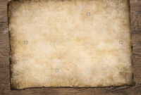 Old Blank Parchment Treasure Map On Wooden Table Stock Photo with regard to Blank Pirate Map Template