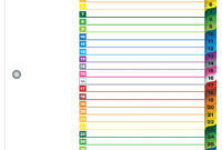 Onestep® Printable Table Of Contents Dividers, 1-31, Multicolor for Blank Table Of Contents Template Pdf