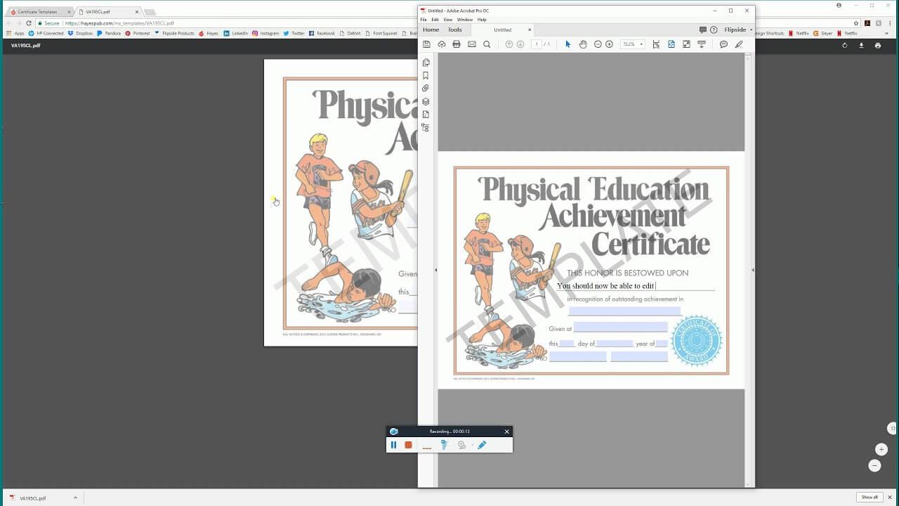 Open In Acrobat – Hayes Publishing Certificate Templates Regarding Hayes Certificate Templates