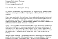 Operations Manager Cover Letter Example | Resume Genius in Operations Manager Report Template