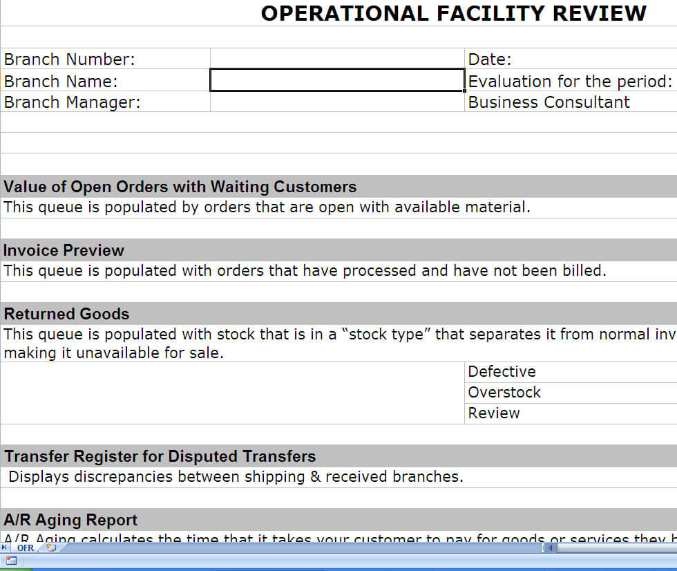 Operations Review | Operational Review | Post Erp Implementation with regard to Implementation Report Template