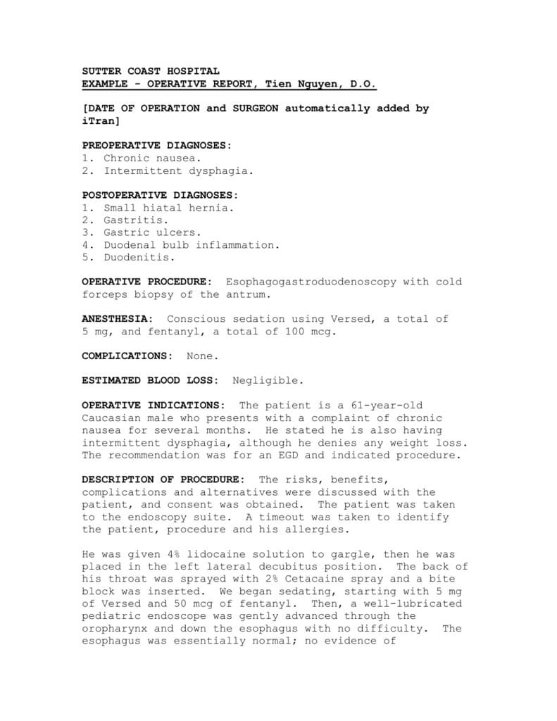 Operative Report Throughout Operative Report Template