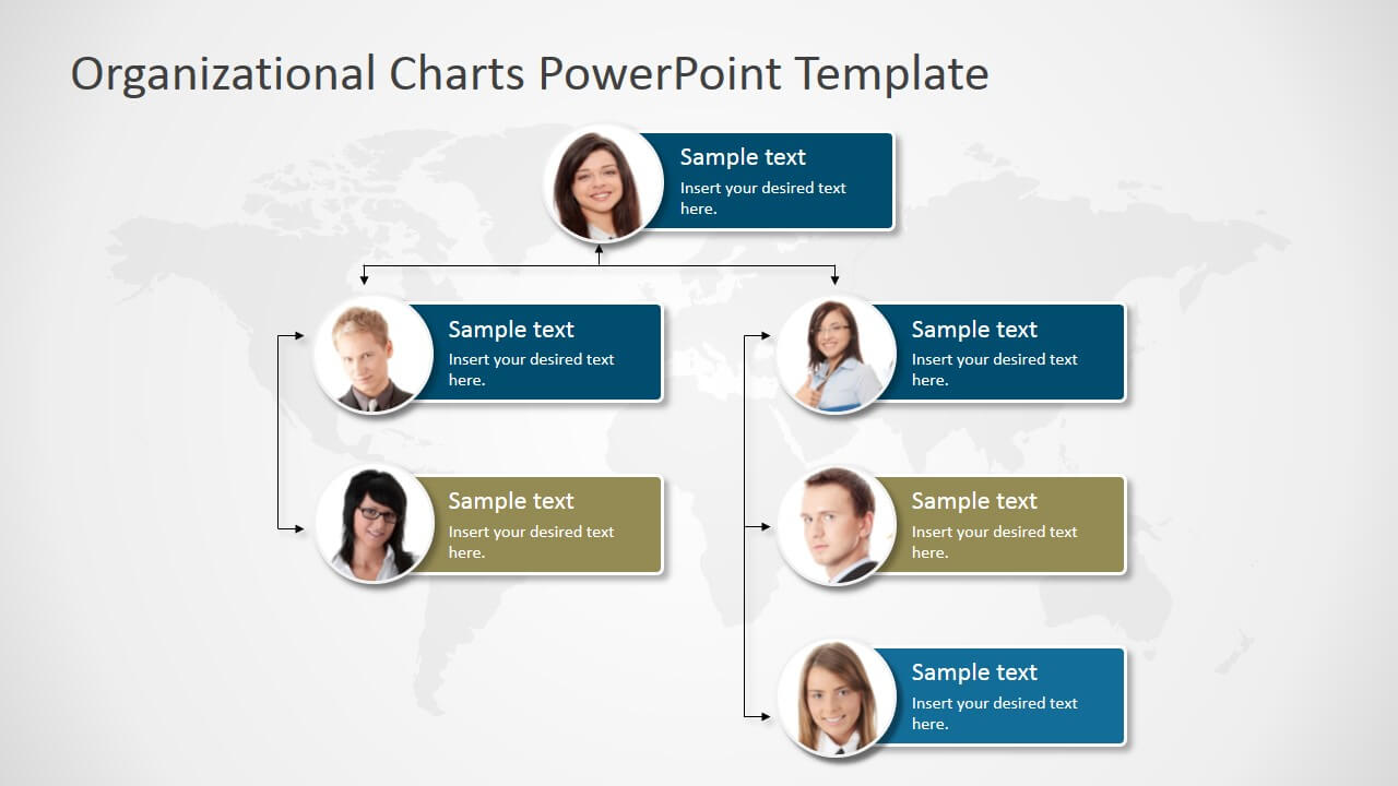 Organizational Charts Powerpoint Template – Slidemodel Within Microsoft Powerpoint Org Chart Template